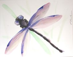 Illustration – Dragonfly painting, original painting – a unique product by Radikacolours on DaWanda