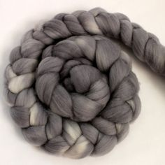 Merino Wool Roving - Hand Painted - Hand Dyed for Spinning or Felting - 4oz - Grey Gray