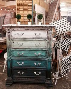 Painted dresser-layered paint-boho-refurbished furniture-chalk paint by Megan Shomidie Funky Furniture, Refurbished Furniture, Paint Furniture, Upcycled Furniture, Shabby Chic Furniture, Furniture Projects, Furniture Makeover, Vintage Furniture, Furniture Stores