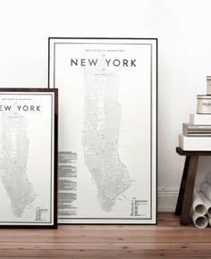 VEPAMA UrbanDecoChic: Mapas de ciudades emblemáticas de David Ehrenstrah...