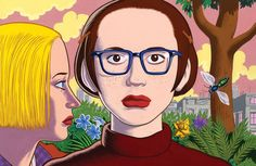 """Clowes never aimed to be the kind of artist museums collect. But now, the walls of the Oakland Museum of California are covered with his drawings. It's """"quite embarrassing,"""" he laughs."""