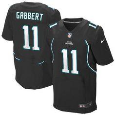 Mens Nike Jacksonville Jaguars #11 Blaine Gabbert Elite Alternate Black Jersey$129.99