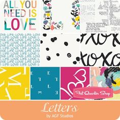 Letters by AGF for Art Gallery Fabrics - January 2017