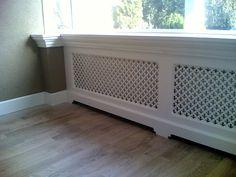 radiator ombouw in landelijke stjl met webbing