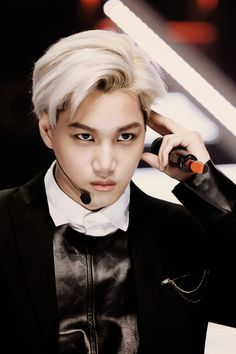 """Exo - Kai """"He's trying to control my mind, my heart, my love. Lol. Babe you dun need to, cuz I already love you."""""""