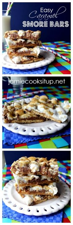 Easy Caramel Smore Bars from Jamie Cooks It Up!