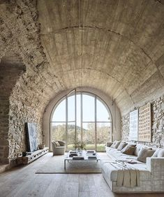 Stone Archway Interiors | Baix Emporda Farmhouse, Spain | Joan Lao Studio