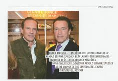Daniel Marshall on the cover of Cigar Journal featured article with Governor Schwarzenegger