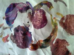 Exploring colours with vegetable prints from Happy Heart Childminding