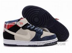 huge discount 6856d f3ee0 Germany Mens Nike Dunk Sb High Top Shoes Navy Beige Red, Price   90.00 -  Air Jordan Shoes, Michael Jordan Shoes