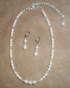 Bridal necklace & earrings...