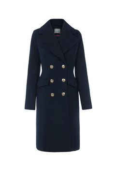 Oasis, CHERYL BUTTON DETAIL MILITARY Navy 0