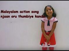 Malayalam action song for kids lkg/ukg (njaan oru thumbiye kandoo..)
