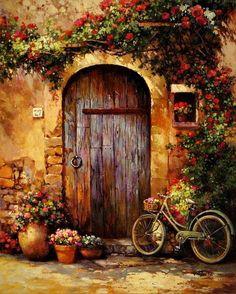 Πορτα με ποδιλαυο