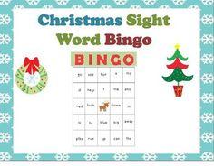Christmas Sight Word Bingo!