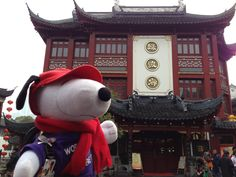 Snoopy in Shanghai during Chinese New Year