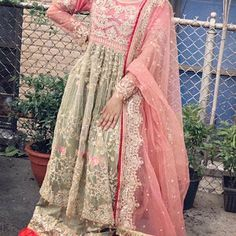 Pakistani Indian Wedding dresses off White maria b embroidery | Etsy Pakistani Wedding Dresses, Indian Dresses, Pakistani Dress Design, Indian Wedding Outfits, Pakistani Outfits, Indian Clothes, Indian Outfits, Bridal Dresses, Bridal Collection
