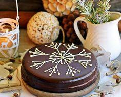 Bizcocho navideño de chocolate intenso