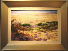 Cable Beach by Robyn Collier. 52 x 34 Western Australia, Westerns, Have Fun, Cable, Oil, The Originals, Beach, Painting, Cabo