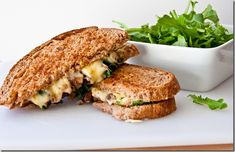 Jarlsberg Grilled Cheese with Arugula and Truffle Oil
