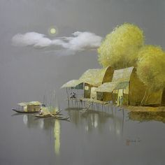 Kai Fine Art is an art website, shows painting and illustration works all over the world. Watercolor Landscape, Landscape Paintings, Watercolor Paintings, Art Asiatique, Sketch Painting, Pastel Art, Watercolor Illustration, Botanical Illustration, Beautiful Paintings