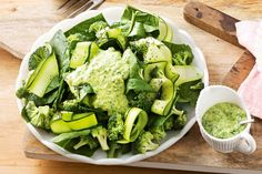 Broccoli is absolutely packed with vitamin C! Add spinach and zucchini for a real health kick!