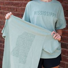 New Mississippi Tee! Available online at www.TheMississippiGiftCompany.com/collections/newest-products/products/state-of-mississippi-tee now!