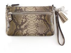 01POUCH64S Perfect Python - 024 Taupe