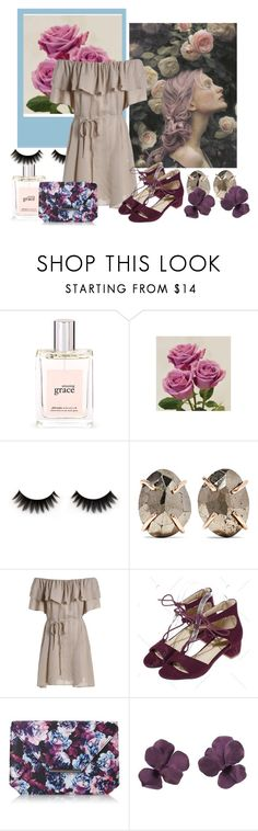 """""""sunlight trickling down your face"""" by nicolepuppy ❤ liked on Polyvore featuring philosophy, Melissa Joy Manning and House of Fraser"""