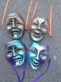 Comedy & Tragedy. The blue and purple ones!!!!! I want them!!