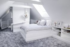 House of Philia Attic Bedroom Designs, Room Ideas Bedroom, Bedroom Decor, Loft Room, Bedroom Loft, Loft Conversion Rooms, House Of Philia, Dream Rooms, Luxurious Bedrooms