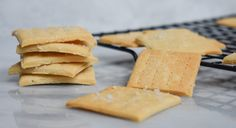 Light and delicious recipe for low-FODMAP Butter Crackers with Sea Salt. Gluten-free and IBS-friendly! Salt Crackers, Butter Crackers, Homemade Butter, Homemade Cookies, Lactose Free Milk, Silicone Baking Sheet, Fructose Free, Fodmap Recipes, Low Fodmap