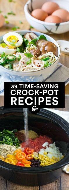 39 Crock-Pot Recipes That'll Last You All Week #crockpot #dinner #recipes http://greatist.com/eat/time-saving-crock-pot-recipes