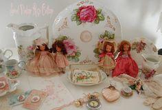 A vignette in Sweet Vintage Rose Cottage, via Flickr