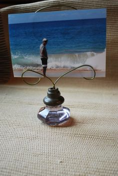 picture holder from glass knob