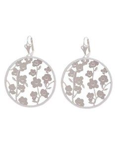 Love this Silver Flower Garden Drop Earrings on #zulily! #zulilyfinds