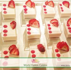 'Cooking with love provides food for the soul' #strawberrypannacotta #worldfusioncuisine
