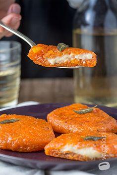 Cotolette di zucca ripiene di mozzarella vegan ✫♦๏☘‿FR Oct ༺✿༻☼๏♥๏写☆☀✨ ✤ ❀‿❀ ✫❁`💖~⊱ 🌹🌸🌹⊰✿⊱♛ ✧✿✧♡~♥⛩ ⚘☮️❋ Raw Food Recipes, Vegetable Recipes, Vegetarian Recipes, Cooking Recipes, Healthy Recipes, Kulfi Recipe, Vegan Mozzarella, Polenta, Healthy Cooking