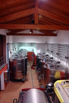 The vinification cellar.