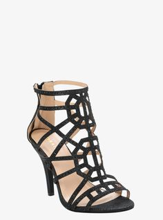 Cage Stone Heels (Wide Width) From the Plus Size Fashion Community at www.VintageandCurvy.com