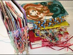 ▶ Make an Art Journal with Recycled Greetings Cards: Tutorial Part II - YouTube