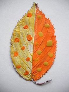 the art room plant: Painting leaves on autumn days