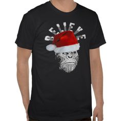"""Awesome Sasquatch/Bigfoot """"BELIEVE"""" T-shirt!  A perfect funny Christmas gift for the Finding Bigfoot fan you know!"""