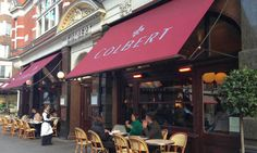 Le Colbert at Sloane Sq for a Croque Madame. Black Restaurant, Awning Canopy, Window Awnings, Food Concept, Little Black Books, Al Fresco Dining, Pick One, Coffee Shop, Victorian