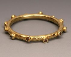 18 karat yellow gold ring with diamonds by Liaung-Chung Yen Designs