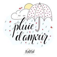 """Illustration gratuite """"Pluie d'amour"""""""