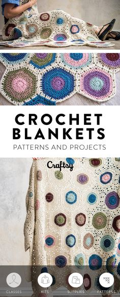 It's never too early to start thinking about what homemade holiday gifts! A handmade DIY crocheted blanket makes a wonderful present. Get inspired with our roundup of beautiful afghans and blankets. #crochet #crochetedblanket #handmadeblanket #homemadeblanket