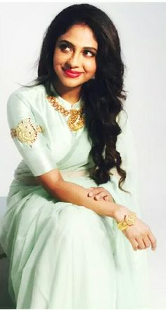 Poornima Indrajith in her own beautiful creation! Pranaah