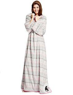 Fleece Penguin Blanket Dressing Gown | M&S
