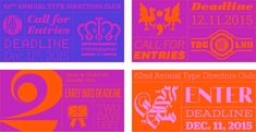 Noted: New Identity for Type Directors Club Annual Competition by OCD | The Original Champions of Design